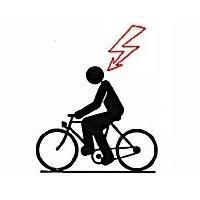 Verhalten bei Gewitter - ungeschützte Fahrräder meiden